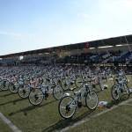 Kilis'te okula başlayan çocuklara bisiklet