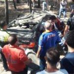 Korkunç kaza! Lüks otomobil okul bahçesine uçtu