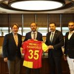 Göztepe'den Bakan Kasapoğlu'na ziyaret