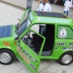 Hurda otomobile güneş enerjisi yüklediler