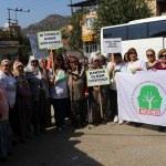 Aydın'da JES yapımına tepki eylemi sürüyor