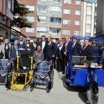 Merzifon'da engellilere medikal malzeme yardımı