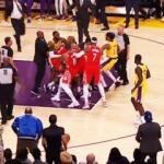 NBA'de büyük kavga! Yumruklar konuştu