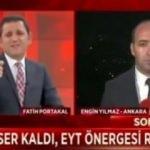 Fatih Portakal, canlı yayında muhabiri fena bozdu