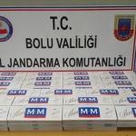 Bolu'da kaçak sigara operasyonu