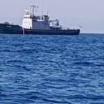 Yunan gemisi Kuşadası Körfezi'nde görüntülendi