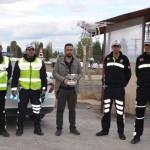 Muş'ta uçangözle trafik denetimi yapıldı
