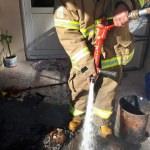 Söndürülmeyen soba kovası yangına yol açtı