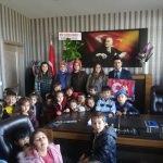 Anaokulu öğrencileri polisleri ziyaret etti
