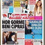 Hürriyet Gazetesi manşetleri! 13 Kasım Salı son dakika haberleri...