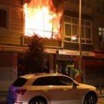 İstanbul Güngören'de 4 katlı binada yangın
