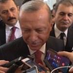 Erdoğan'ın muhabirle güldüren diyaloğu