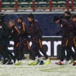 Galatasaray son idmanı kar altında yaptı