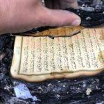 Küle dönen lojmanda Kur'an-ı Kerim mucizesi