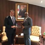 Rektör Polat'tan, büyükelçilere ziyaret