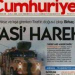 Cumhuriyet Gazetesi'nden harekat için alçak manşet