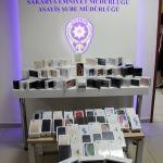 Duvarı delip 500 bin lira değerinde cep telefonu çaldılar