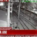 Tren kazasının görüntüleri ortaya çıktı!