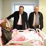 Başkan Hadimioğlu hastaneyi ziyaret etti