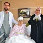 Beynindeki tümör temizlenen Seher nine sağlığına kavuştu