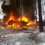 Rusya'da helikopter düştü!