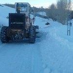 Saray'da karla mücadele çalışması