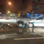 Hırsız polis kovalamacası kaza ile bitti