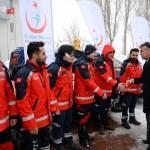 Üç ilden UMKE ekibi dualarla Kilis'e uğurlandı