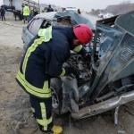 Beton mikserine çarpan otomobilin sürücüsü hayatını kaybetti