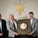 Tollu'dan AK Parti Erdemli İlçe Başkanı Topçu'ya ziyaret