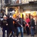 Taksim'de vatandaşla esnaf birbirine girdi