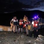 Keban Baraj Gölü kıyısında donma tehlikesi geçiren 4 kişi kurtarıldı