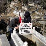 Şehit meslektaşlarının mezarlarının bakımını yaptılar