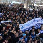 Erzurumspor taraftarından TFF ve MHK'ye tepki