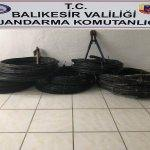 Gömeç'te kablo hırsızlığı