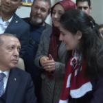 Erdoğan vatandaşın isteğini kırmadı