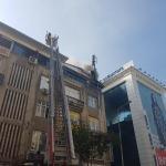 Manisa'da baz istasyonu trafosu yandı