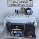 Malatya'da kaçak kazı operasyonu