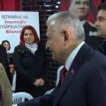 Binali Yıldırım CHP standını ziyaret etti