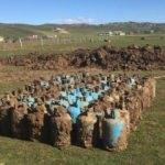 Diyarbakır'da toprağa gömülü 75 dolu tüp bulundu