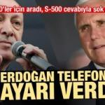 Erdoğan'dan Pence'e S-400 ayarı! S-500 cevabıyla şok oldu