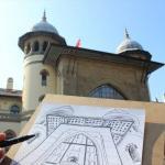 Osmanlı mirası üniversite öğrencileri çizimiyle kartpostala dönüşüyor