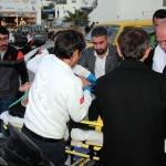 Motosiklet kazasında yaralananlara ilk müdahaleyi başkan adayı yaptı