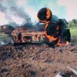 Terör örgütü mensuplarını taşıyan araç patladı! Onlarca terörist öldü