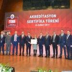 TOBB Akreditasyon Sertifika Töreni