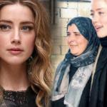 Amber Heard mültecilerle bir arada!