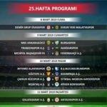 Süper Lig'de 25 ve 26. hafta maç programı açıklandı