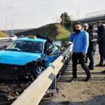 TEM'de feci kaza! Turistleri taşıyordu