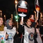 Memur-Sen Suriyeli mahsup kadınlar için yürüdü