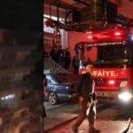 Yangında bayılan ev sahibini itfaiye kurtardı